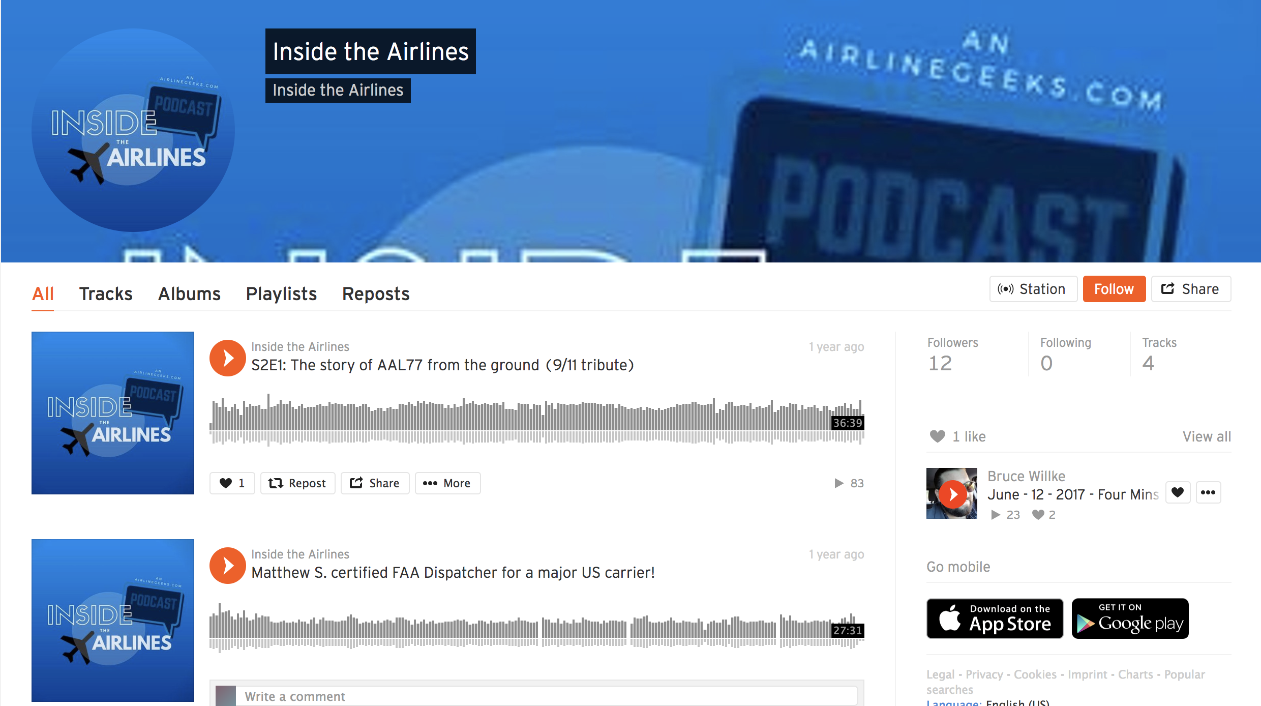 Inside The Airlines on Soundcloud.