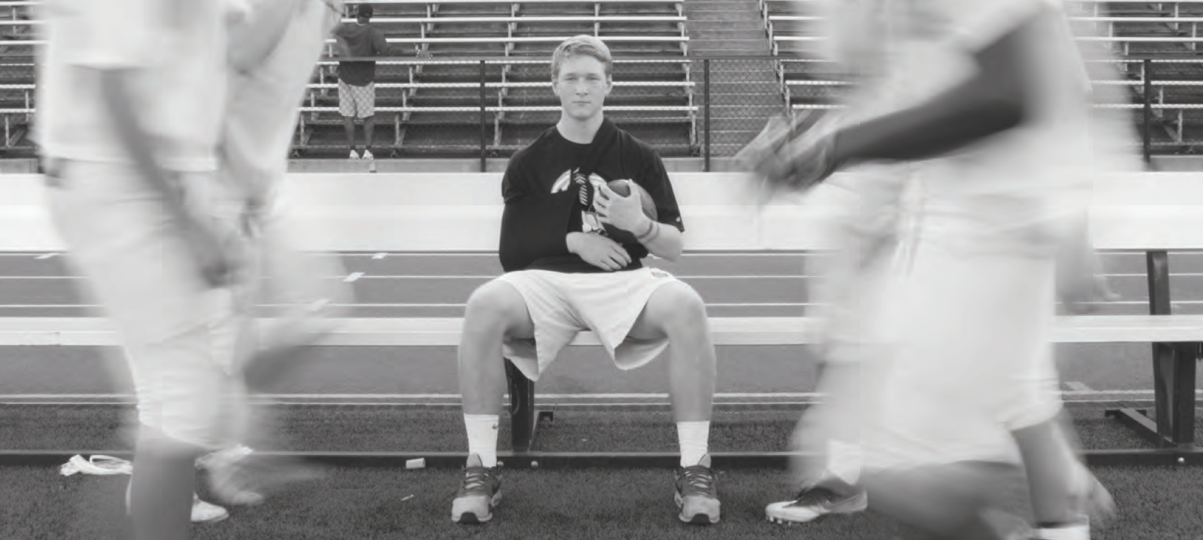 Senior captain Hyer Thomas sits on the bench, plagued by a broken collarbone for the third straight season.