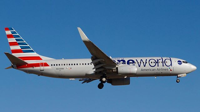 American Airlines, member of oneworld - @americanair #americanairlines #boeing @boeing #737 #b737 #738 #DFW @dfwairport