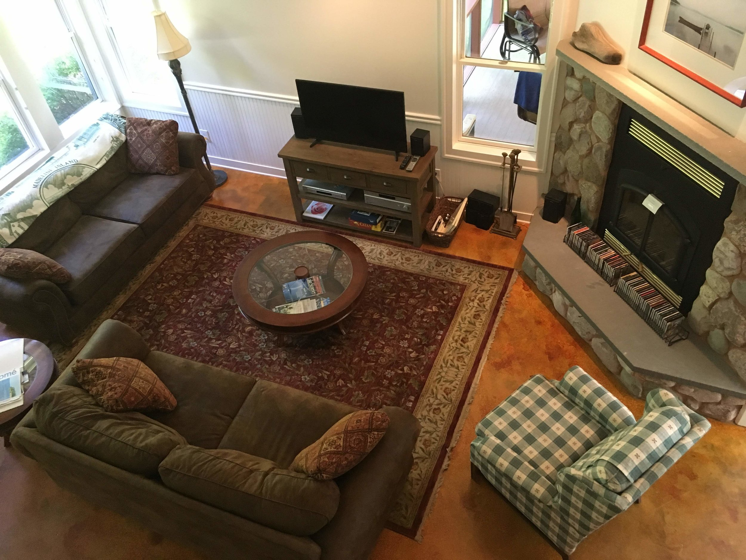 View of Living Room from 2nd floor