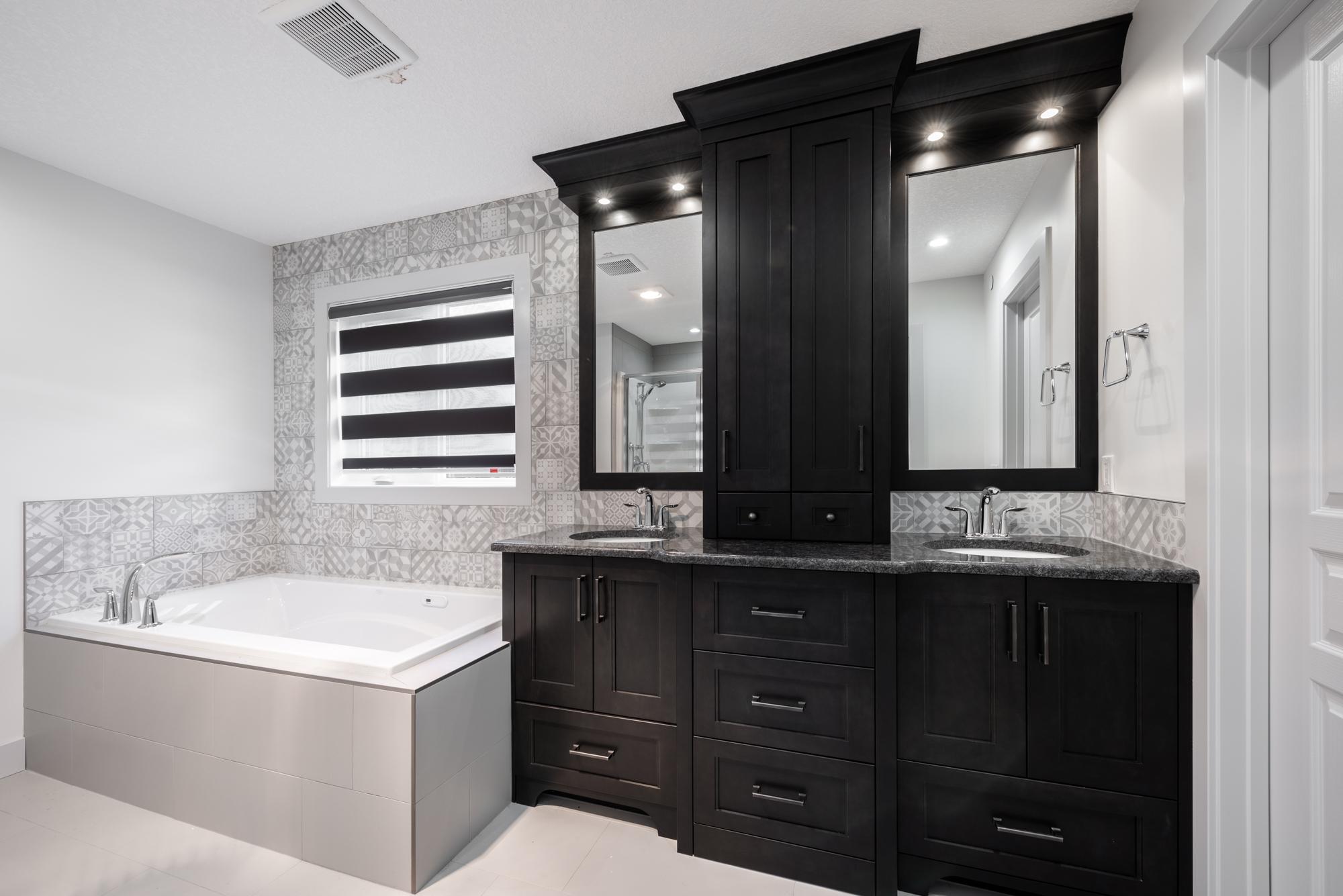 full bathroom view - zebra blinds calgary