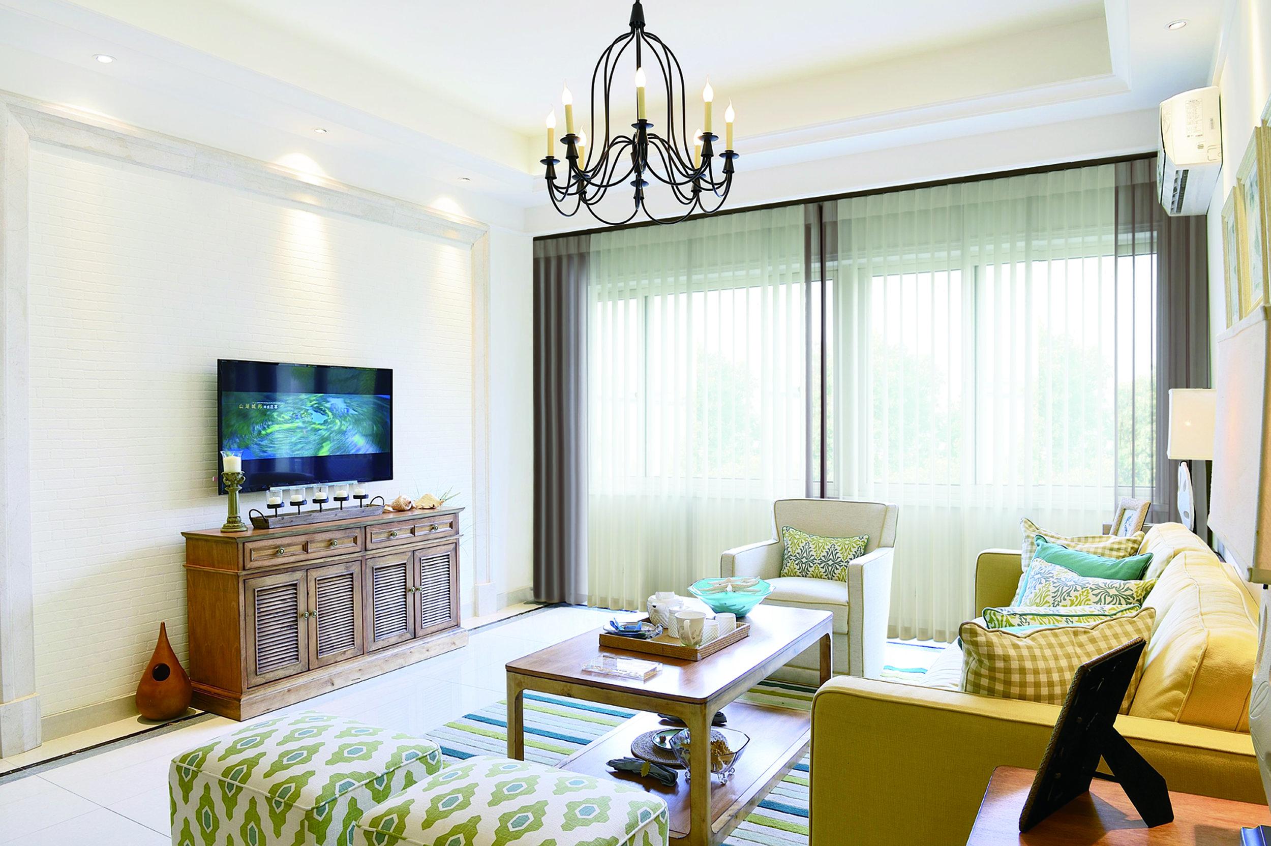 calgary vertical blinds - living room