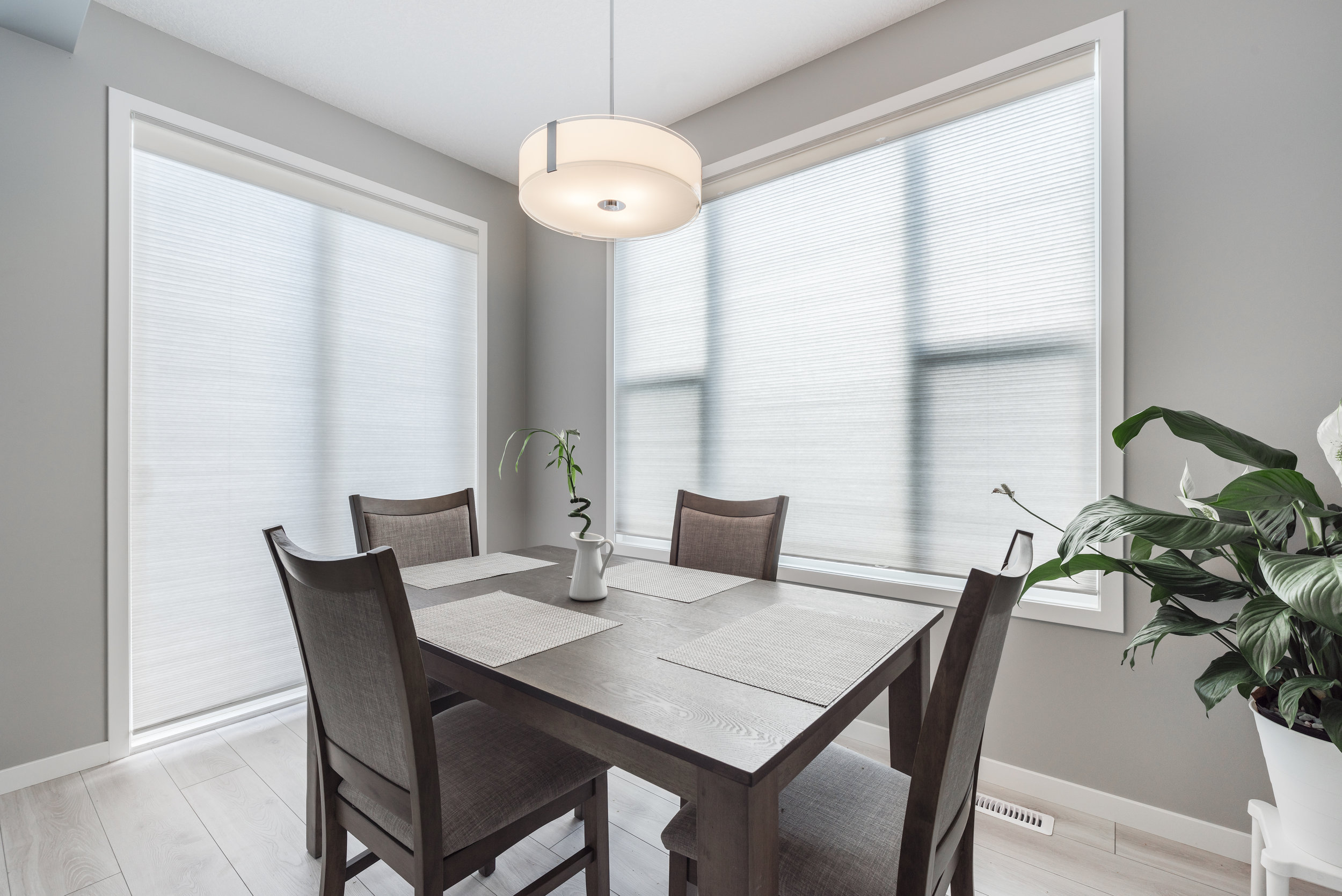 calgary honeycomb shades - kitchen blinds