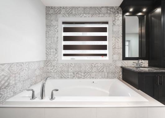 zebra blinds calgary - bathroom installation