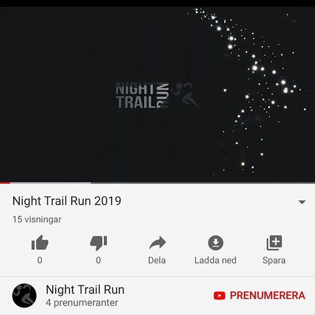 HÄR ÄR DEN! Helt färsk sedan bara några minuter. Direktlänk finns i profilen eller sök på Night Trail Run på Youtube. Rekommenderas att kika på i ett mörkt rum med ganska hög ljusstyrka på mobilen för bäst effekt. Hoppas ni gillar den 🌲🔦 #nighttrailrun