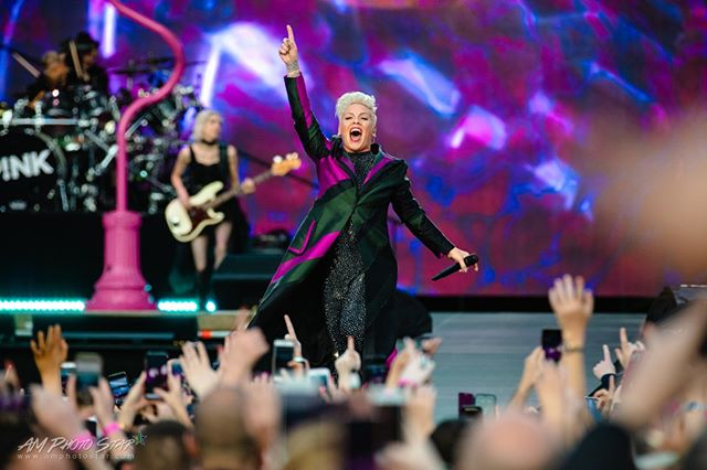 """#Pinkthesinger on Beautiful Trauma, """"I named the album after it because life is f*cking traumatic. But it's also incredibly beautiful, too. There's a lot of beauty still and beautiful souls."""" We are tickled P!nk that we were at RDS last night and beautifully traumatised that we don't get to do it all again tonight. Wow, just wow.  Photo Credit: AM Photo Star  #aleciamoore #pink #bhuman #walkmehome #beautifultraumatour #beautifultraumaworldtour #aleciabethmoore #beautifultrauma #pinkies #pinkthesinger #aleciabethmoorehart #pinkofficial #aleciamoorehart #careyhart #willowsagehart #willowsage #singersongwriter #inspiringwomen  #biggestidol #wilz #ilovepink #idol #myidol #pinkhistory  #aleciamooreisthequeen #historyofpink #dublin #ireland #dublin"""