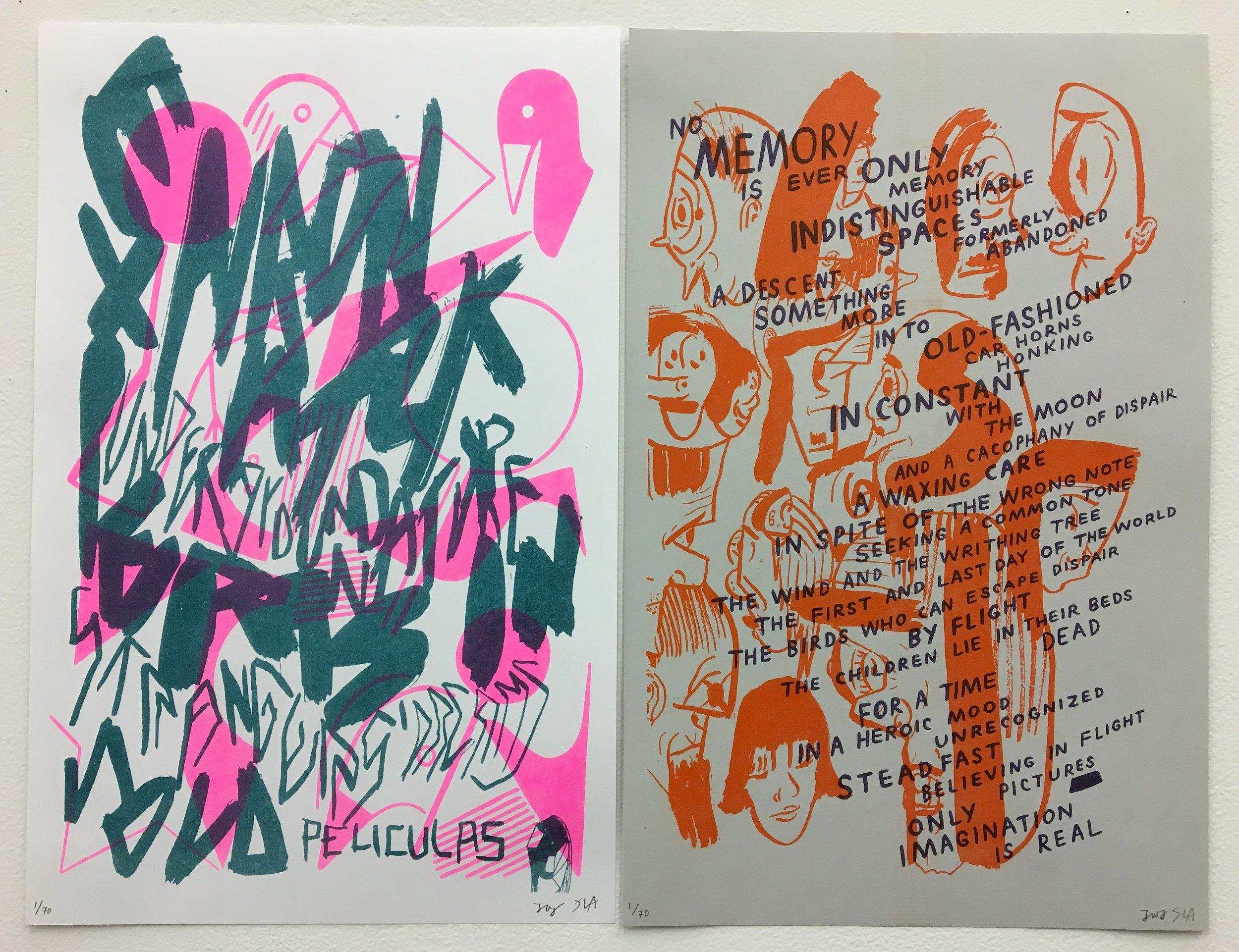 Untitled risograph prints