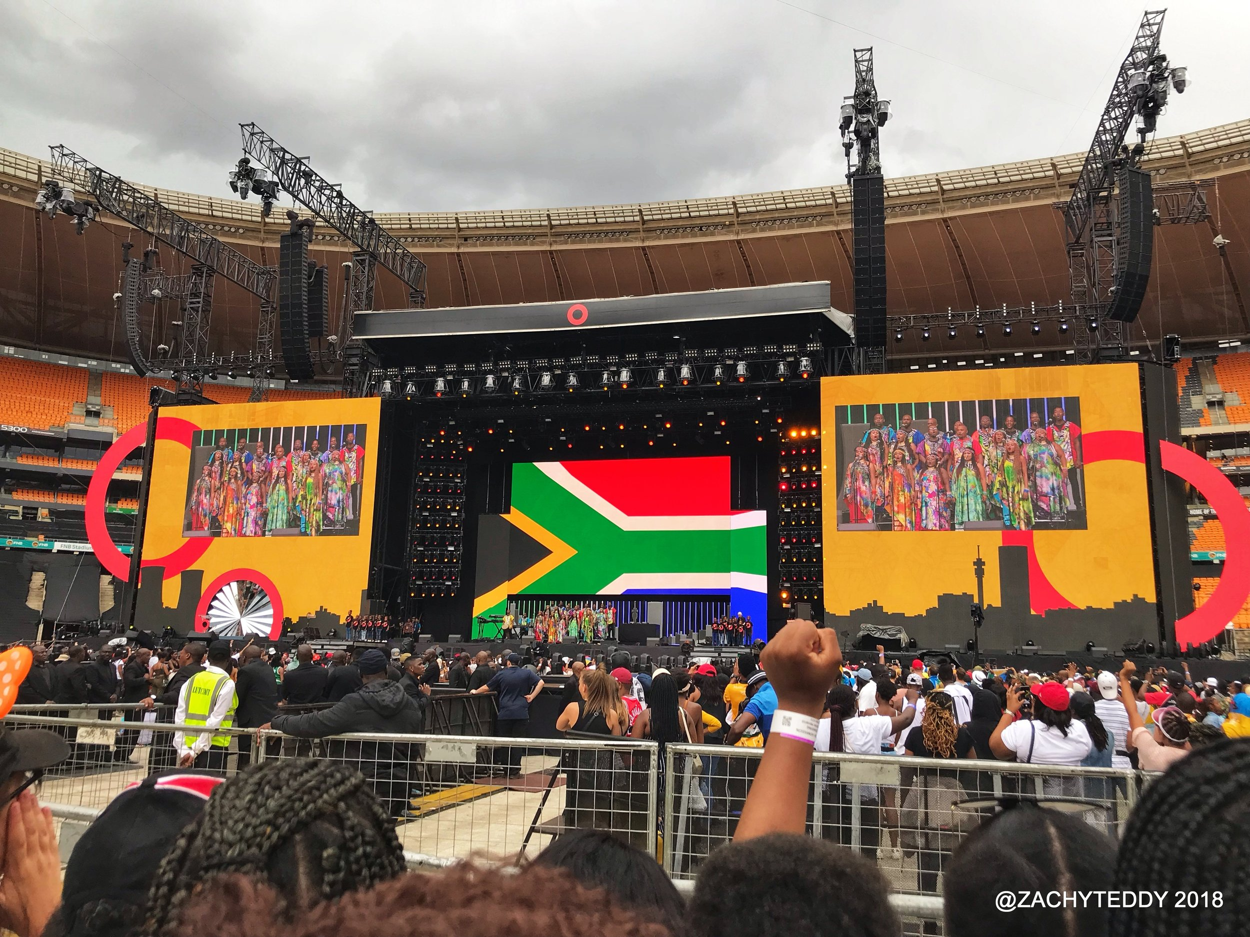 A view of the FNB stadium