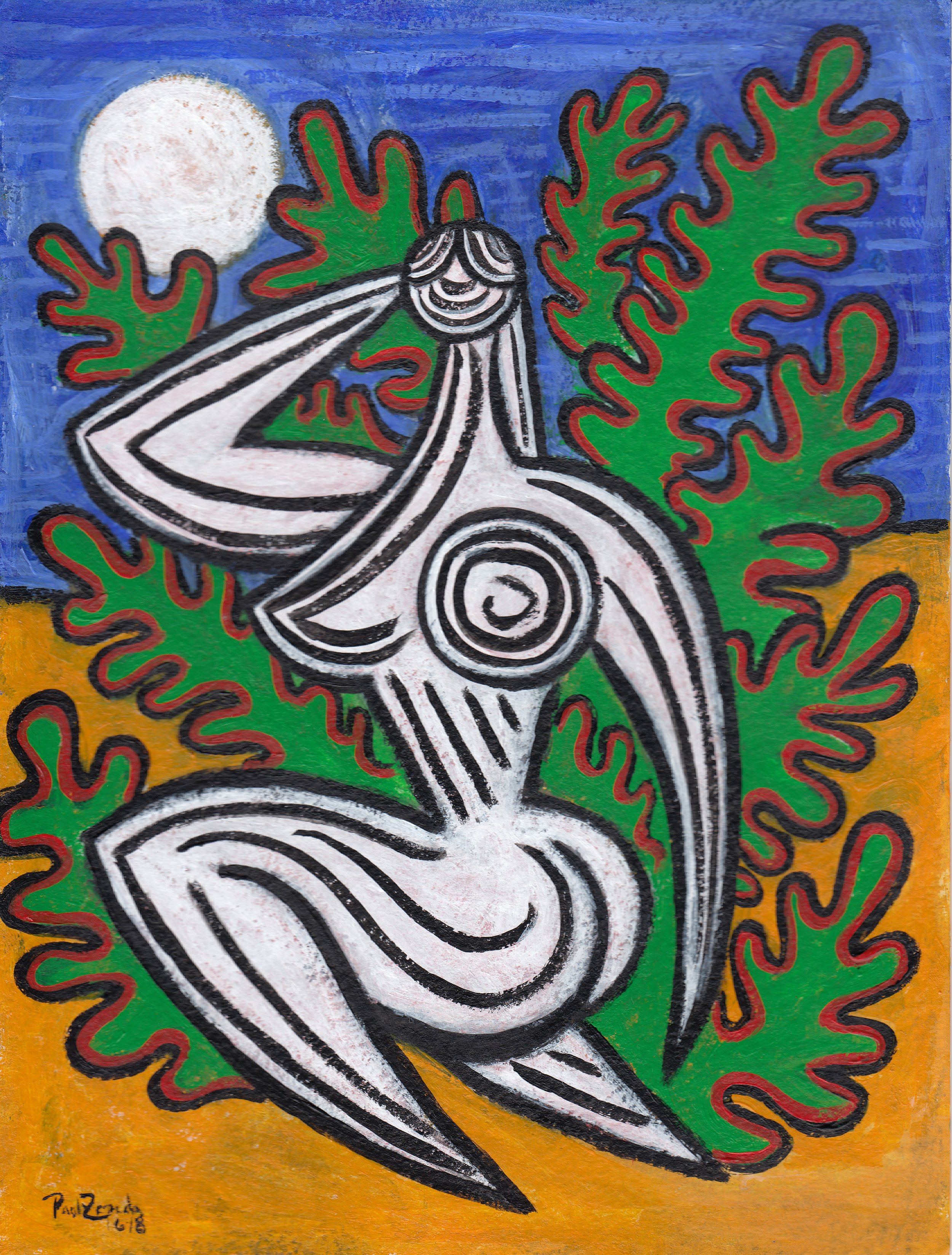 figure in the bush painting paul zepeda.jpg
