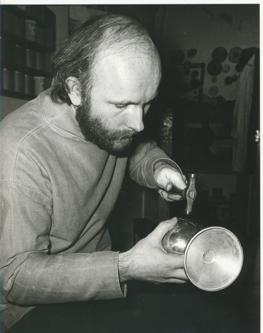 Planishing a Chalice 1971