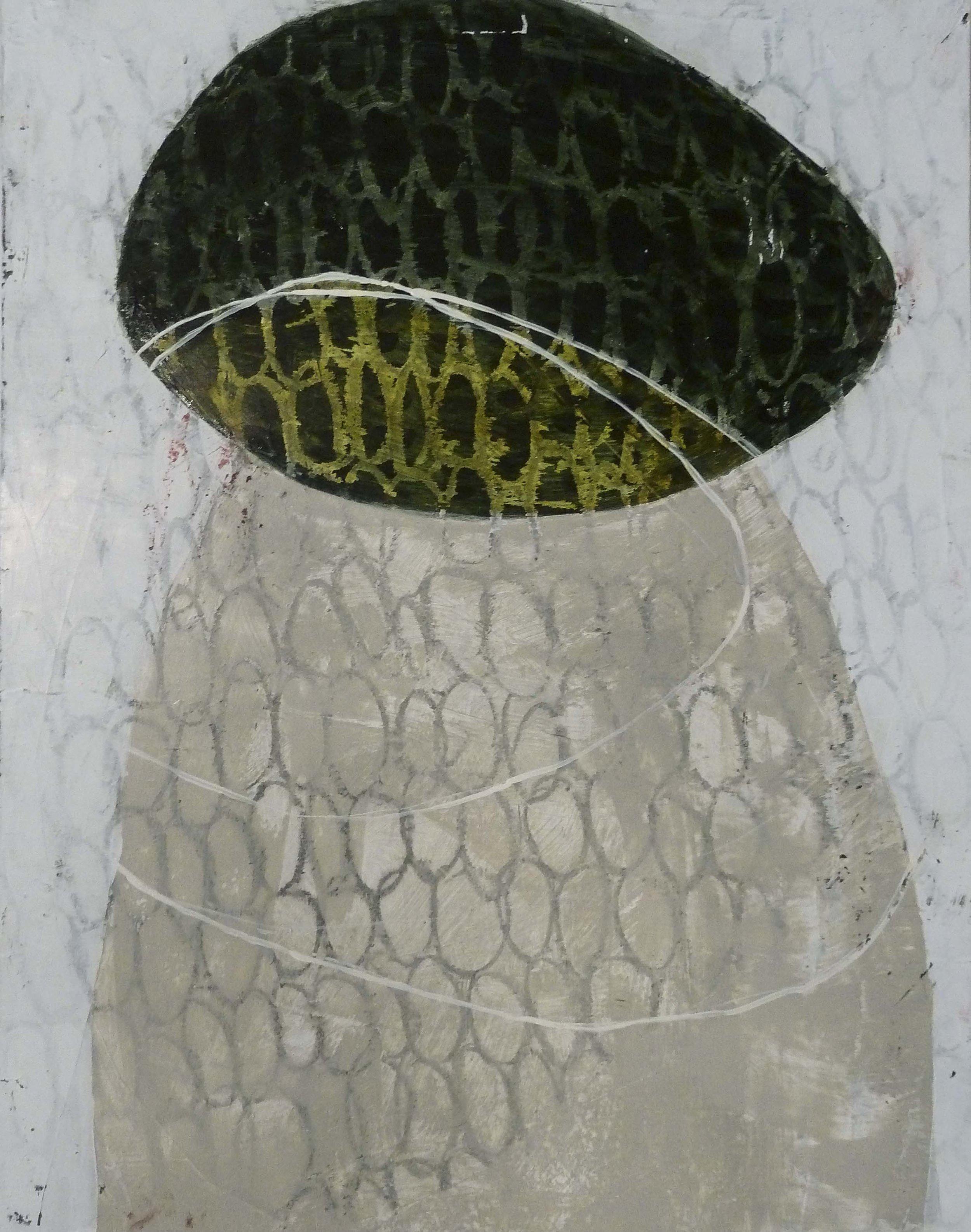 """Pilgrim II, acrylic on museum board, 13.75"""" x 11"""" (sold)"""