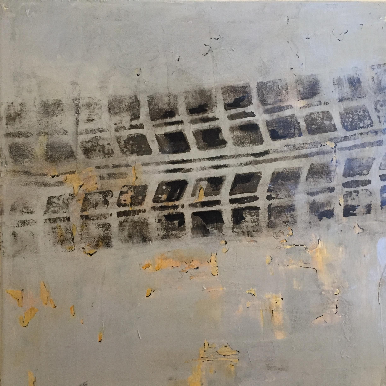 "Corwin Road, acrylic on canvas, 12"" x 12"""