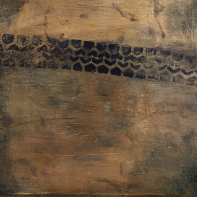 "Brentwood Street, acrylic on canvas, 12"" x 12"""