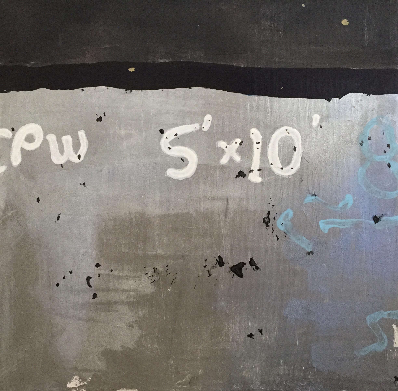 "Beresford Road, acrylic on canvas, 12"" x 12"""