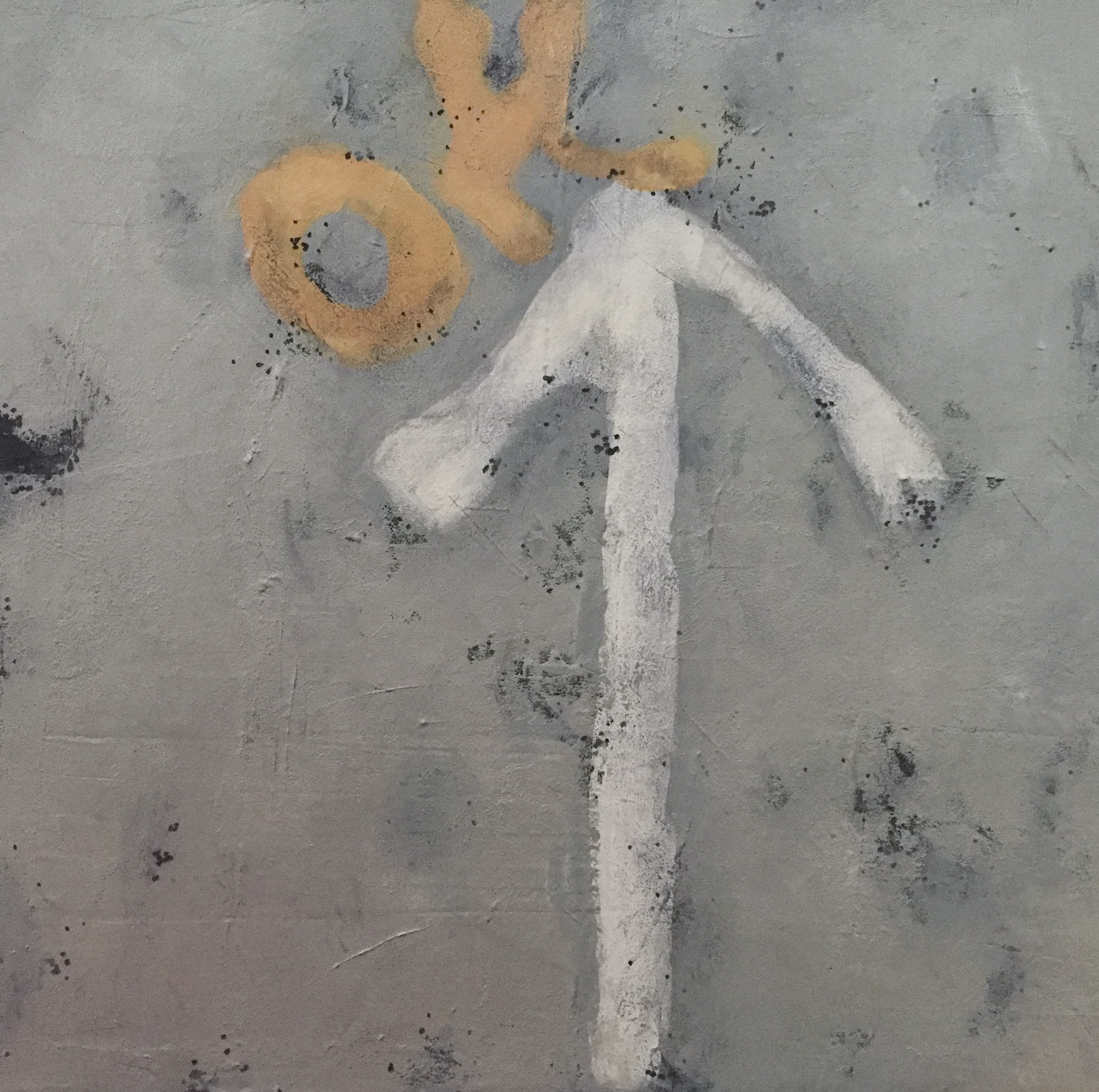 "Dorchester Road, acrylic on canvas, 12"" x 12"""