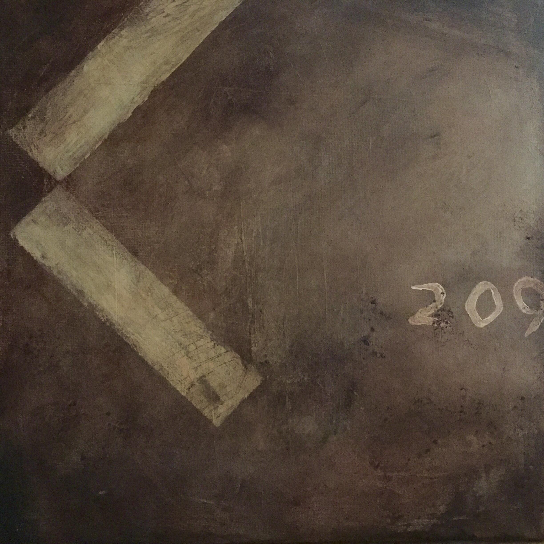"Nottingham Road, acrylic on canvas, 12"" x 12"""
