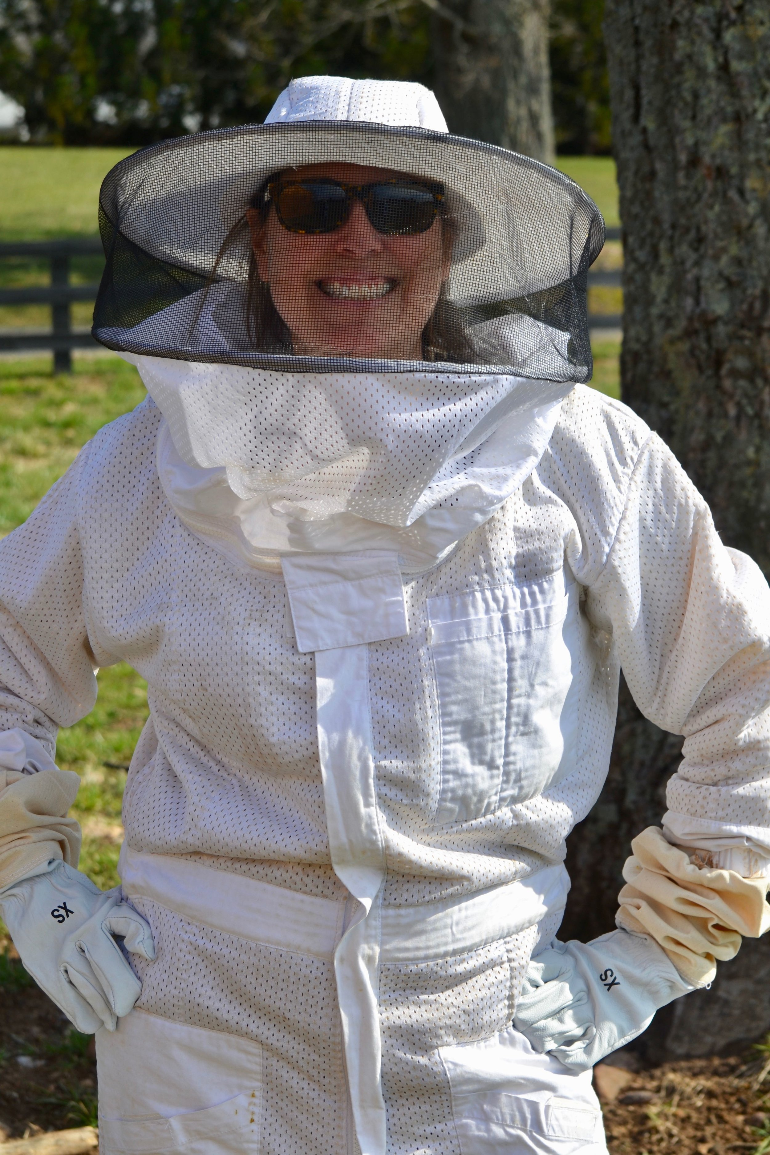 Barb, ready to take action with the bees
