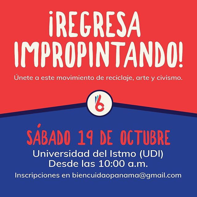 Te invitamos a participar de ImproPintando, el sábado 19 de octubre a las 10:00 AM en la Universidad del Istmo.  Ven con ropa que puedas ensuciar y ayúdanos a transformar banners utilizados en la campaña política en pinturas que reflejen tus ideas con respecto a Participación y Transparencia.  Esta actividad es posible gracias a Global Shapers, Canvas Urbano y Universidad del Istmo.  @udelistmo @canvasurbano @globalshaperspanama