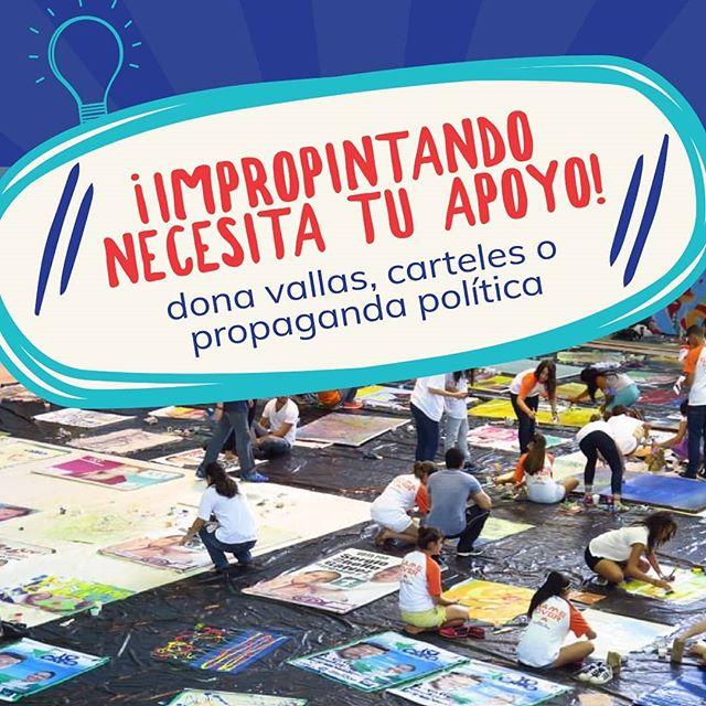 ¡Estamos recolectando banners para reutilizar y convertirlos en arte! Escríbenos y vamos por ellos! . . ¿Ya te anotaste para el Impropintando este sábado a las 10am la @udelistmo ? ¡Participa junto a @biencuidaopanama @globalshaperspanama y @canvasurbano !