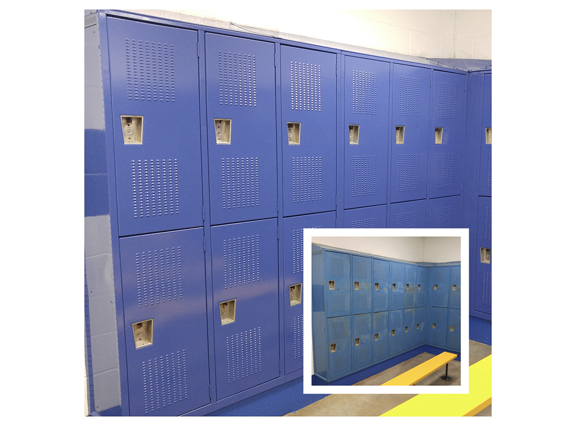 Blue Gym Lockers