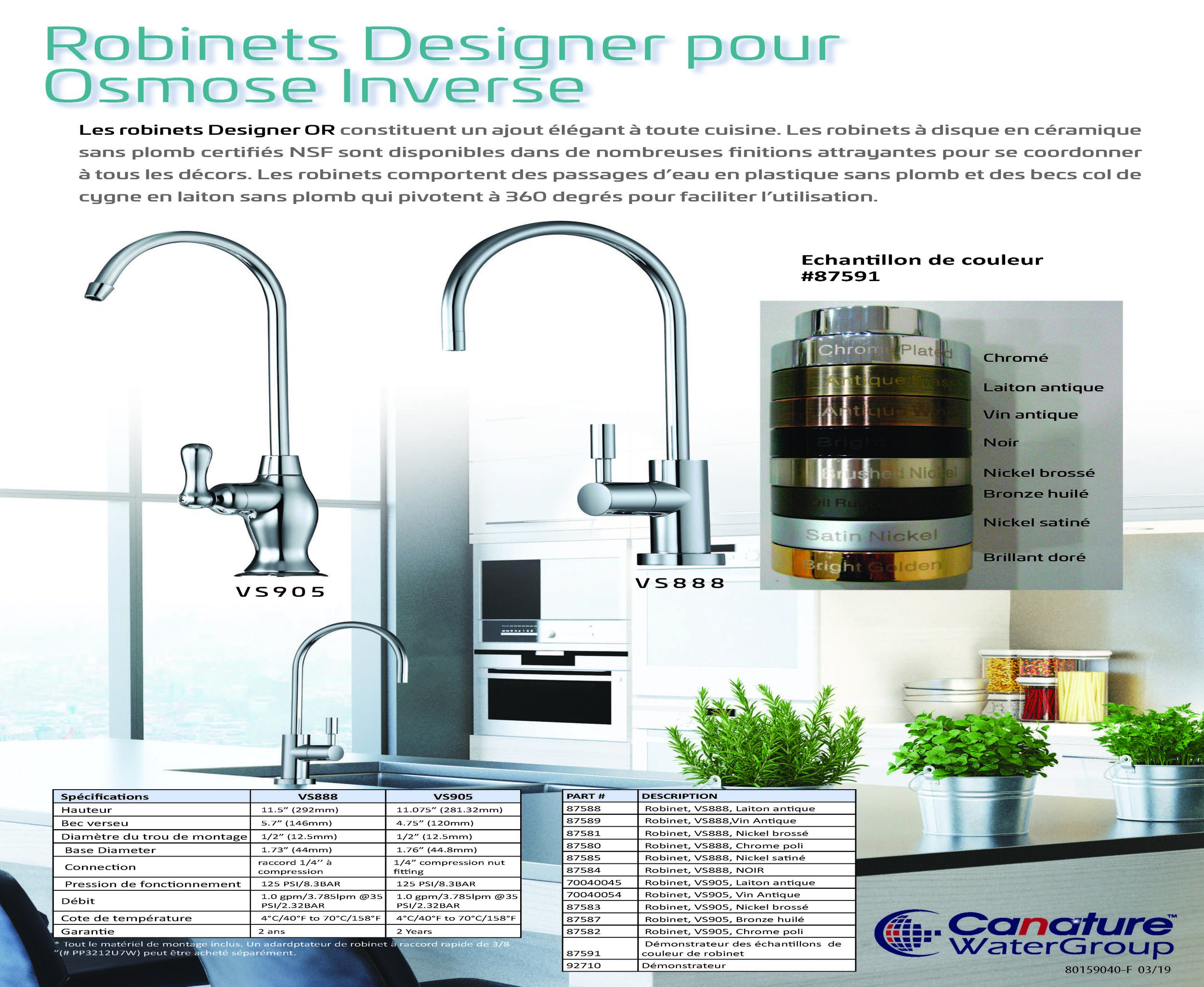 Robinets Designer pour Osmose Inverse
