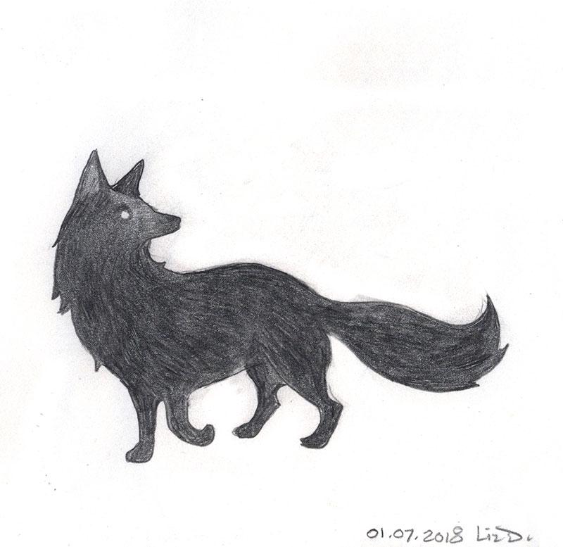 a pencil fox 2018