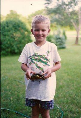 Karl holding a Painted Turtle in 1990.