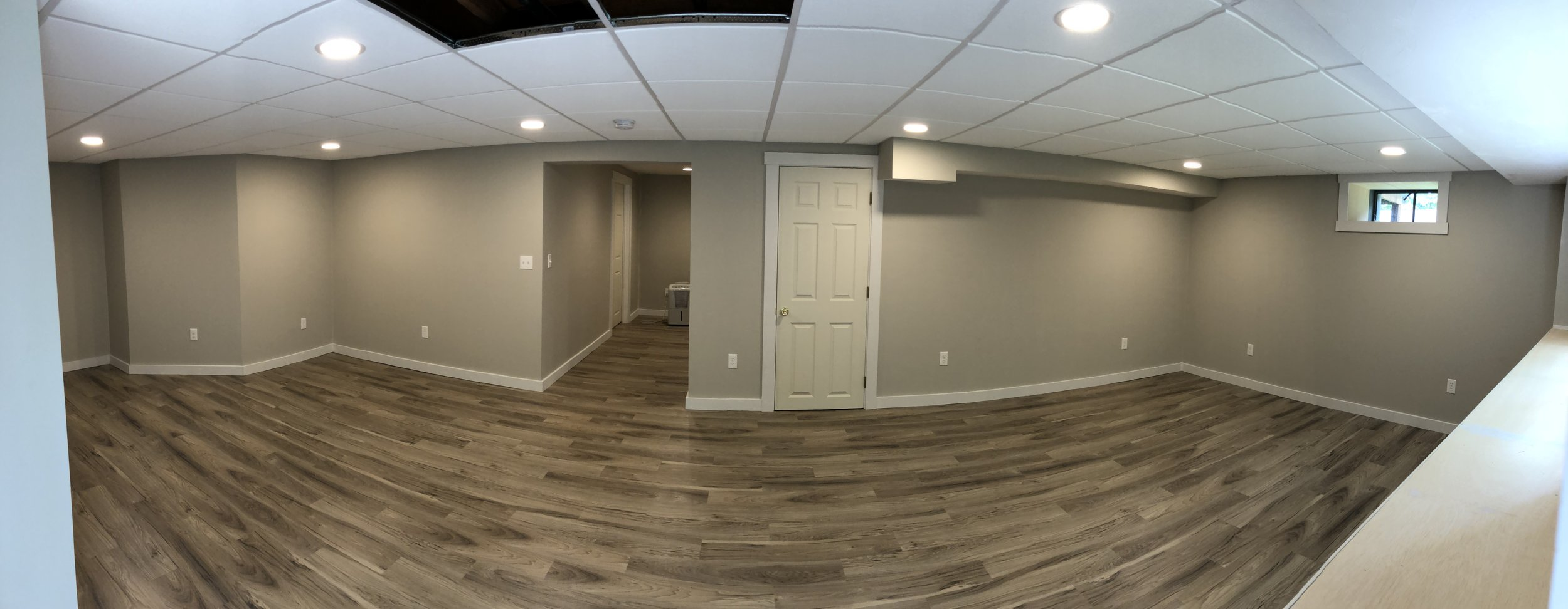 Complete finished basement.
