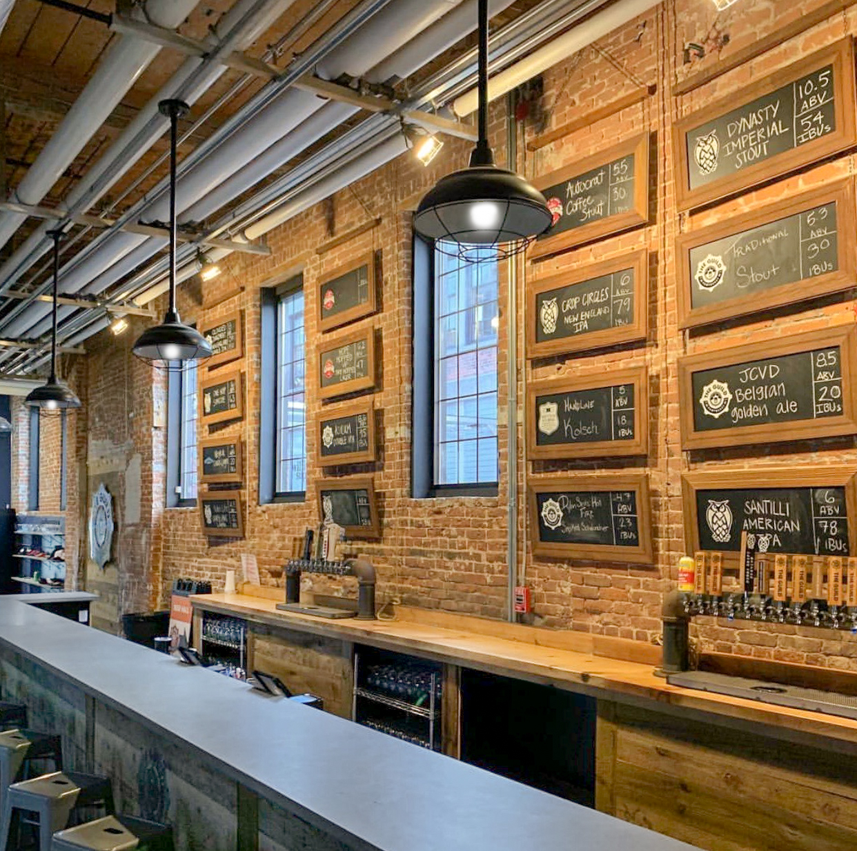 New beer hall build out for The Guild Brewery, Pawtucket, RI.
