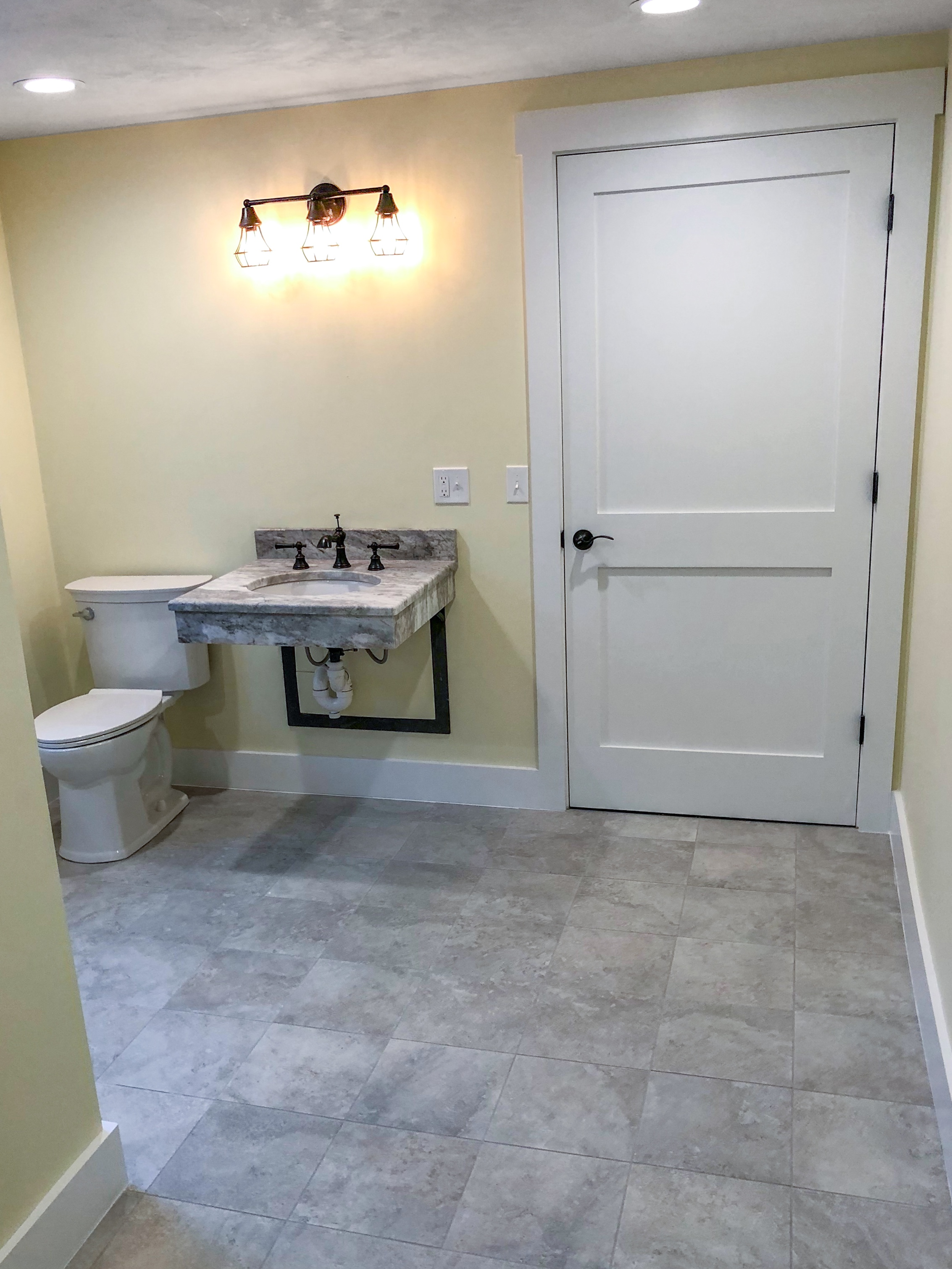 Handicap accessible bathroom.