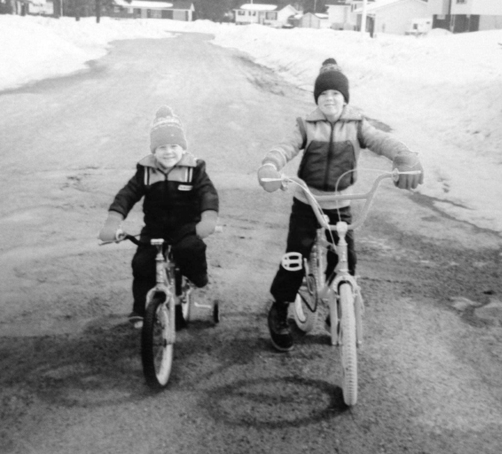 Life with bikes. - Dan Nielsen (L) & Matt Nielsen (R), sons of Kurt Nielsen, pictured here.