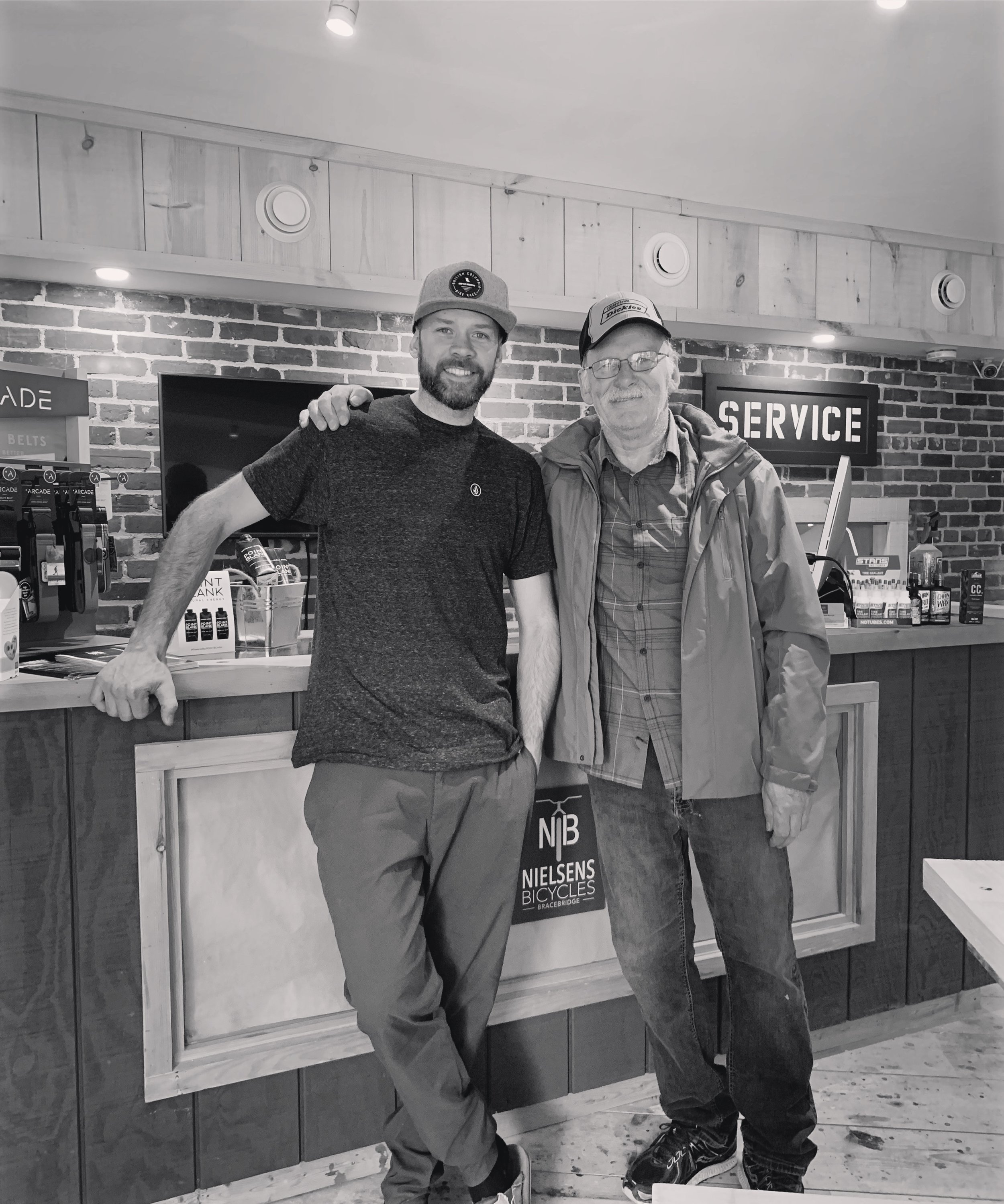 Nielsens Bicycles May 2019. - Years later, 43 Dominion Street became available for lease again. Nielsens Bicycles re-opened in 2019. Proud Dad, Kurt on opening day of Matt's shop at 43 Dominion on May 13, 2019. Same sales counter, to boot.