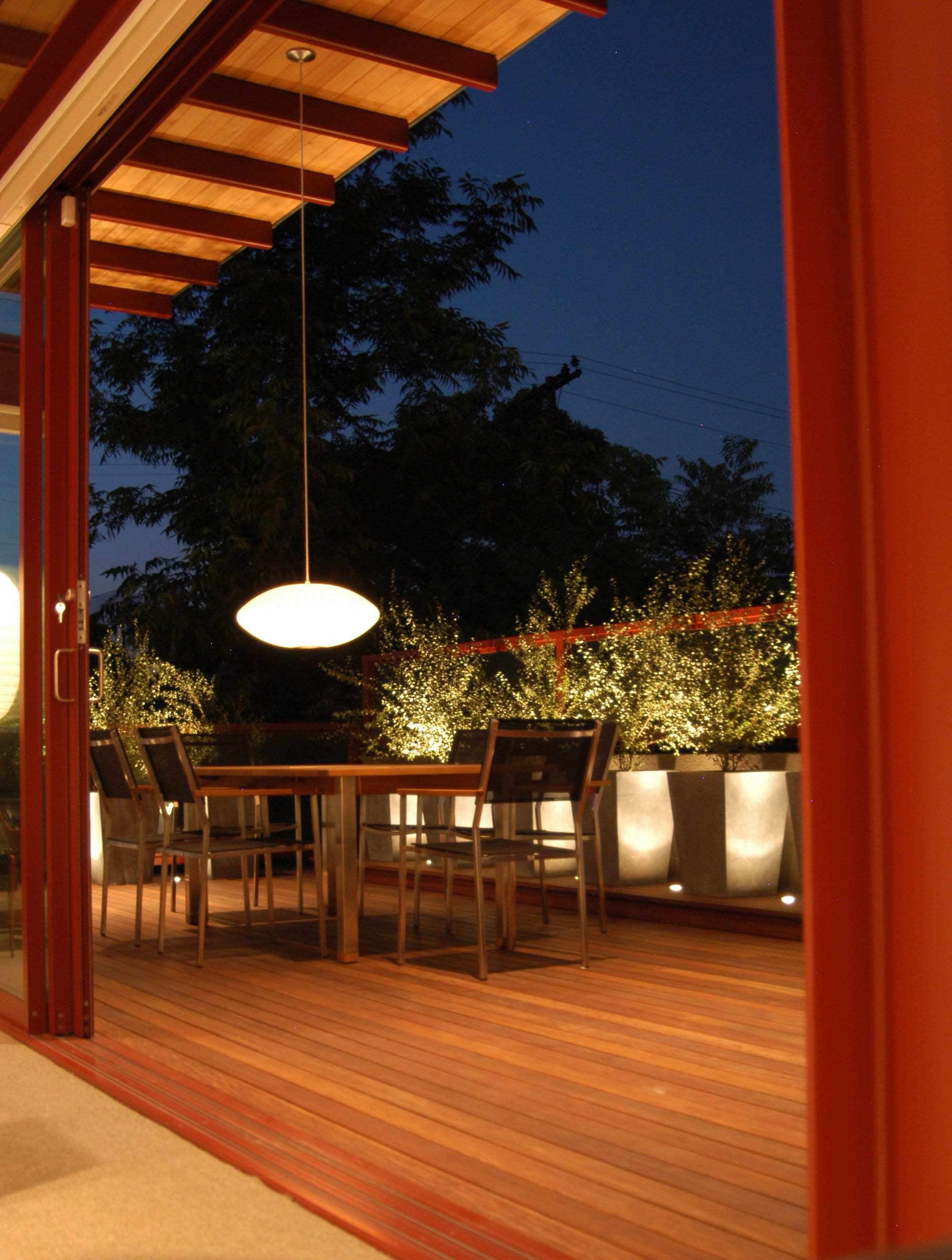 DINING DECK from INTERIOR