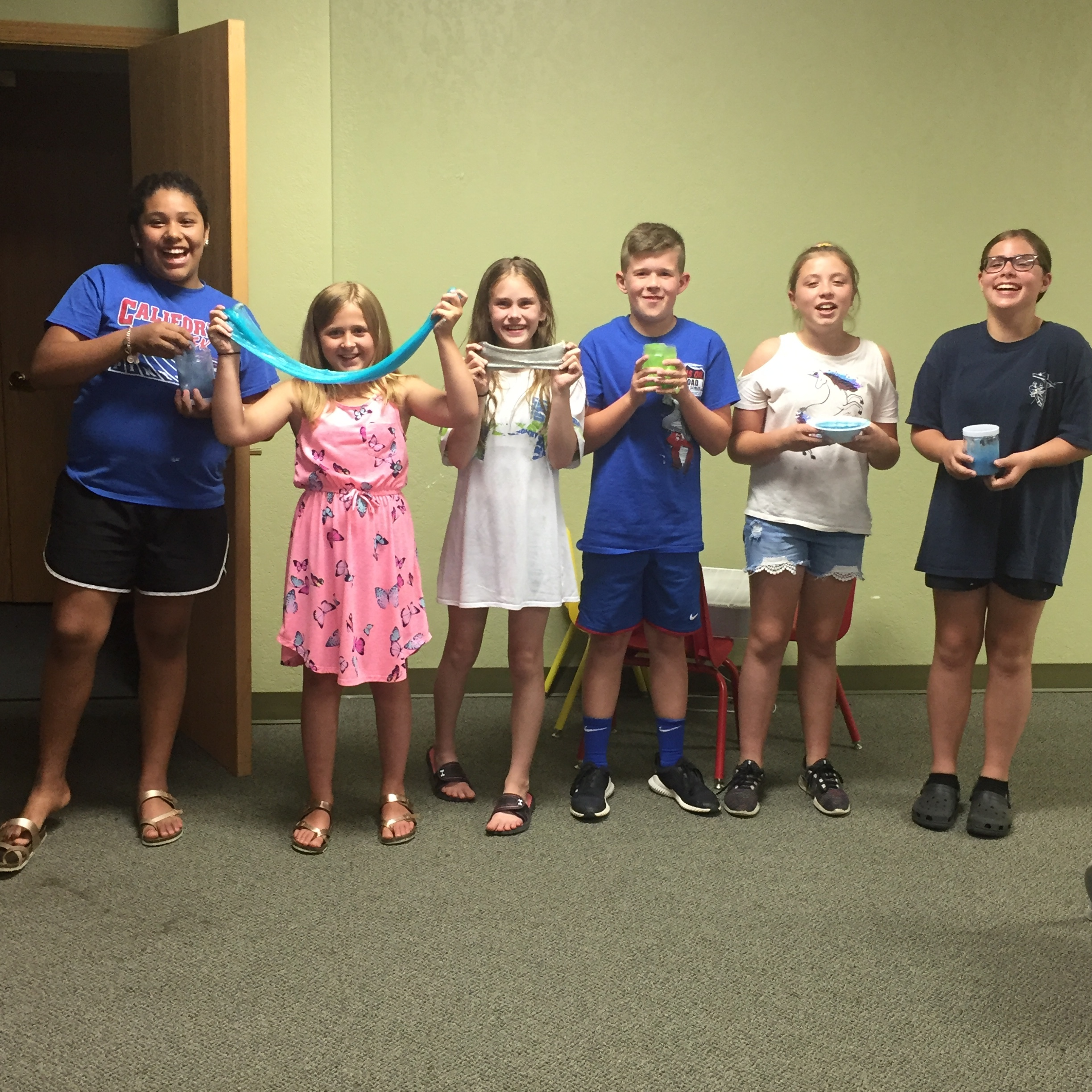 Our tweens had such a fun time making their slime.