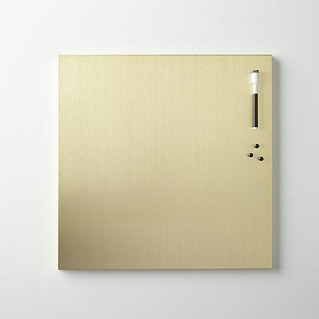 brushed-gold-magnetic-dry-erase-board