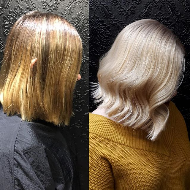 No filter before and after.  Meg did a massive transformation last week in Aviary Lane.  #colourchange #askforwella #dublin2hairsalon #stylistdoitbetter #nofilter @meaghan.darcy.hair @wellahairuk @aviarylanedublin @elainesullivanaviarylane