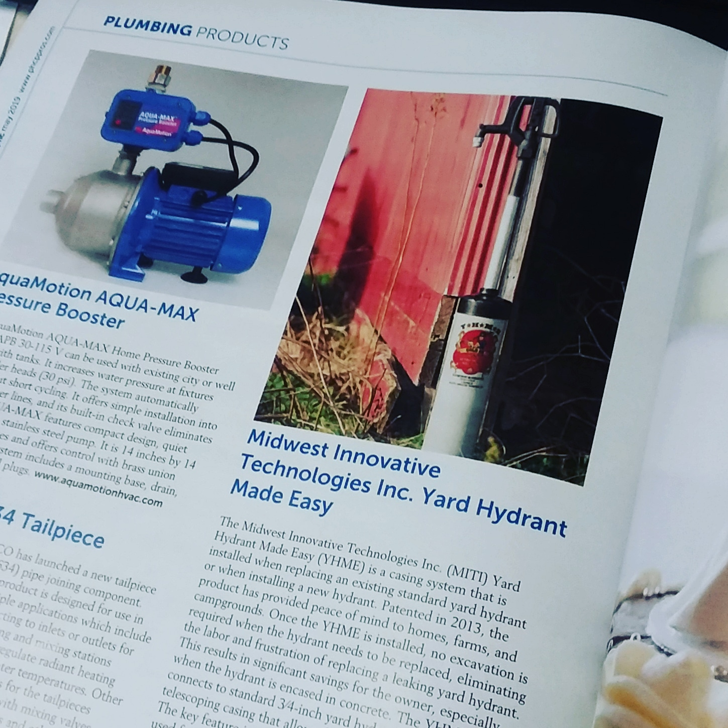 Yard Hydrant Made Easy™ Featured in Plumbing & Hydronic Contractor News PHCNews PHCP PROS.jpg
