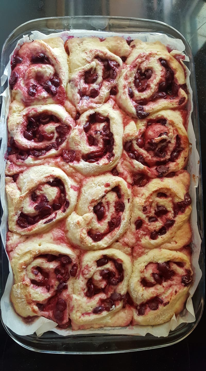 Sour Cherry Rosettes