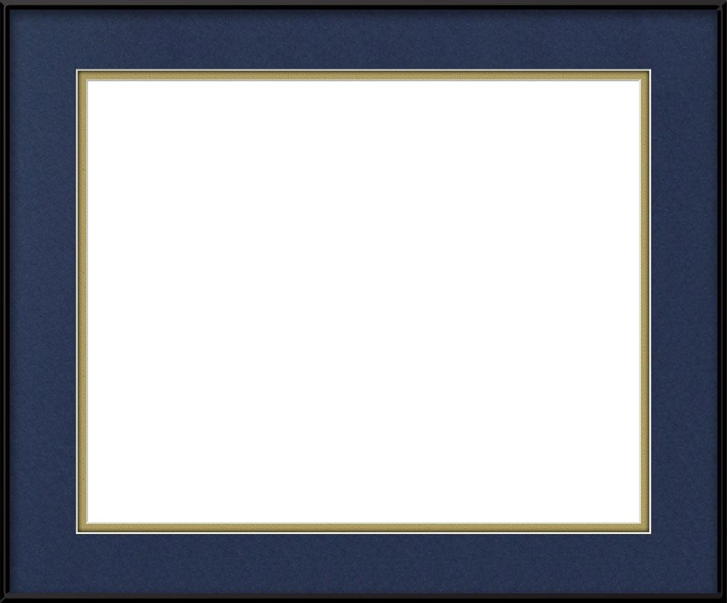Navy Blue / Gold
