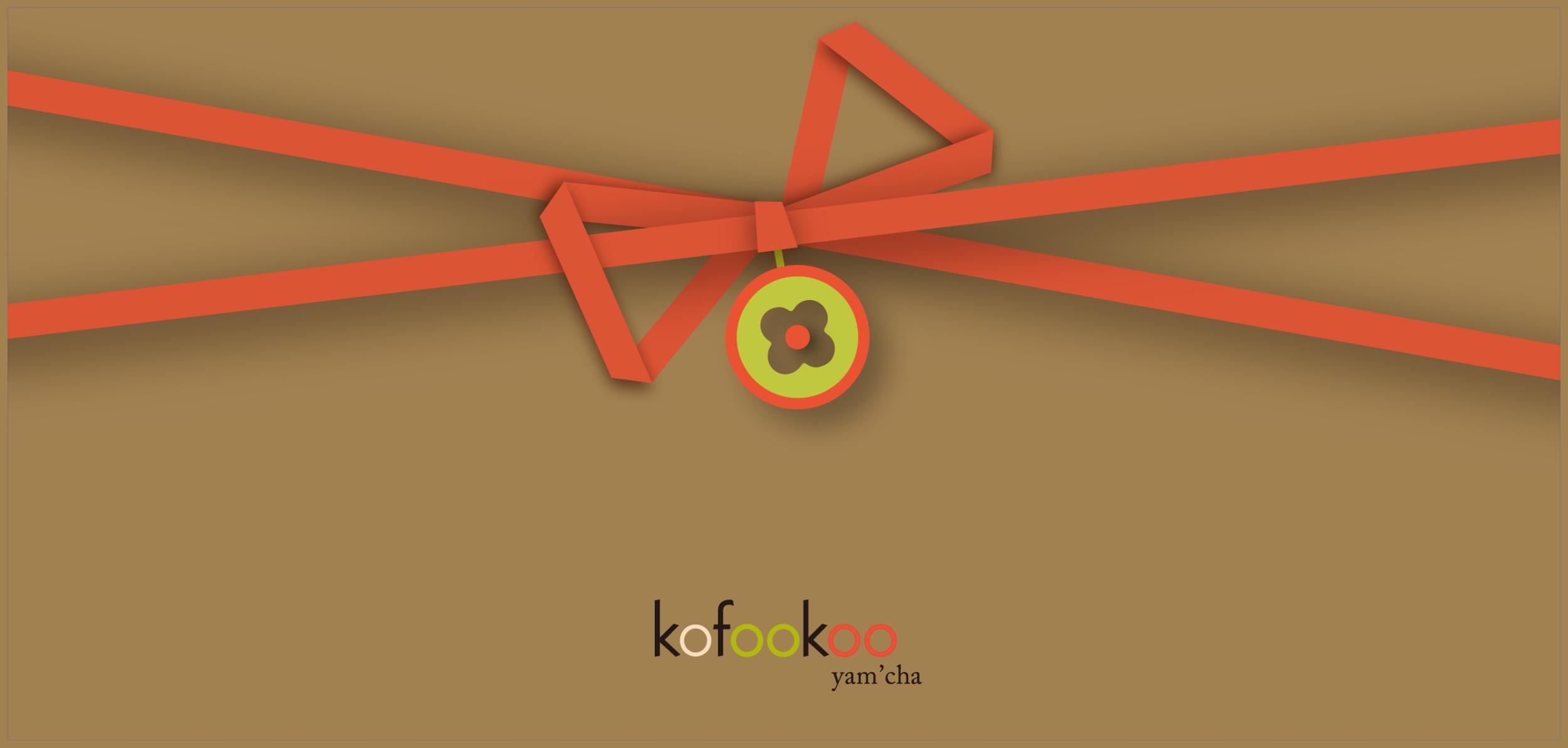 Geschenkgutscheine - Wenn Sie Ihren Freunden ein besonderes Erlebnis schenken wollen, können Sie auch Geschenkgutscheine von kofookoo yam'cha bestellen.Unsere Geldwertgutscheine sind nur am Standort kofookoo yam'cha Gerhart-Hauptmann-Platz einlösbar. Wir buchen Ihnen immer nur den Betrag ab, den Sie auch wirklich verwenden. Bar- oder Restauszahlung ist jedoch nicht möglich.Wir wünschen Ihnen eine tolle Zeit bei uns!