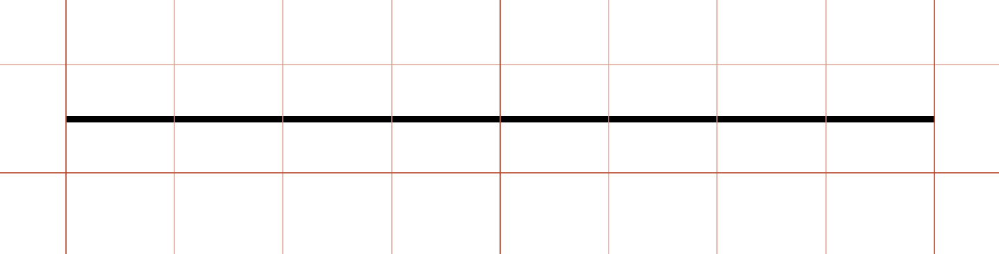 center the line on a grid square