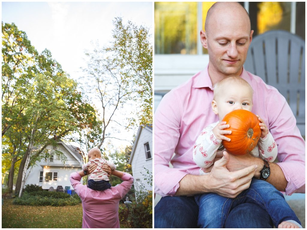 Father and son, fall family session.