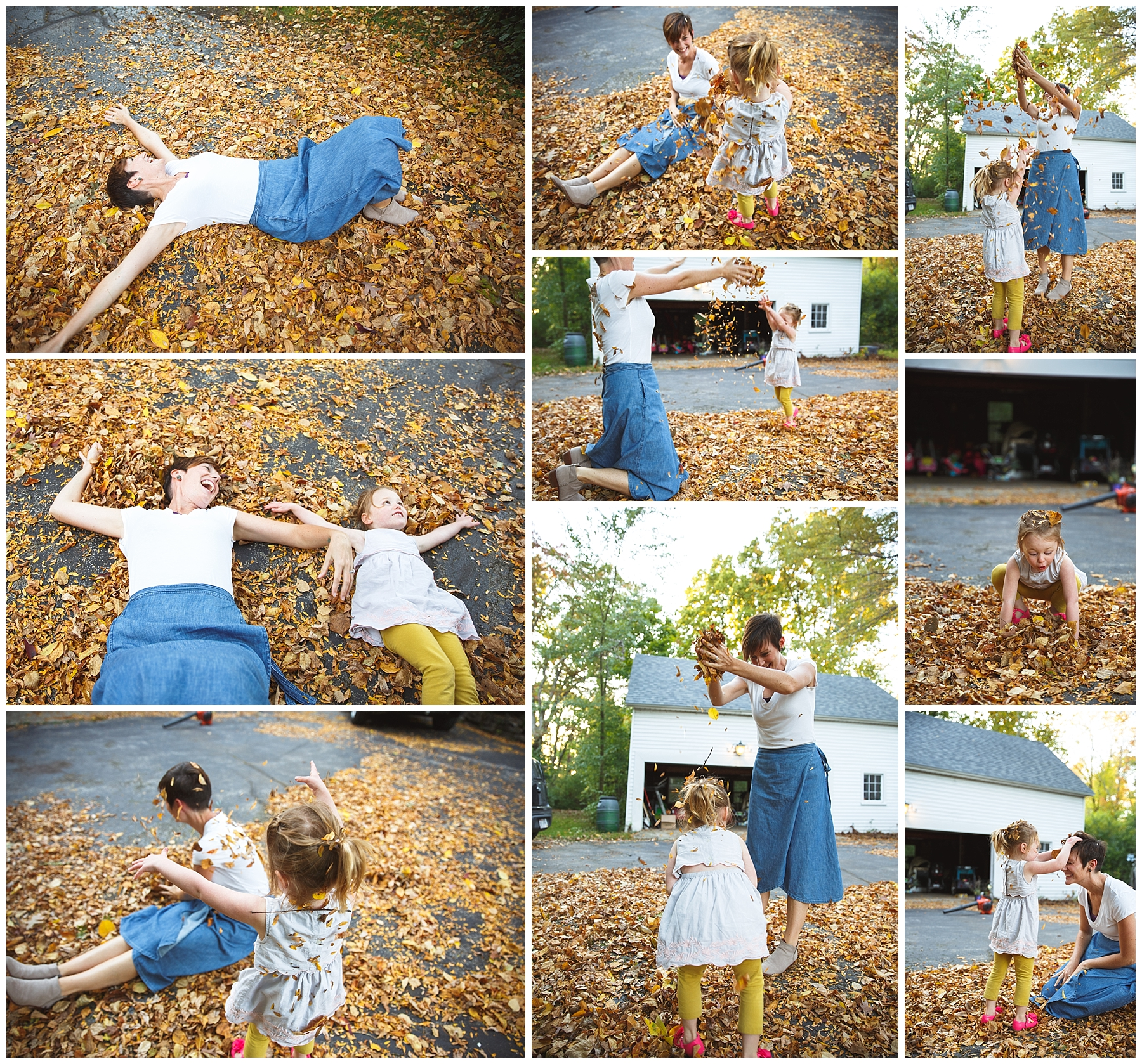 Fall clean up with the littles!