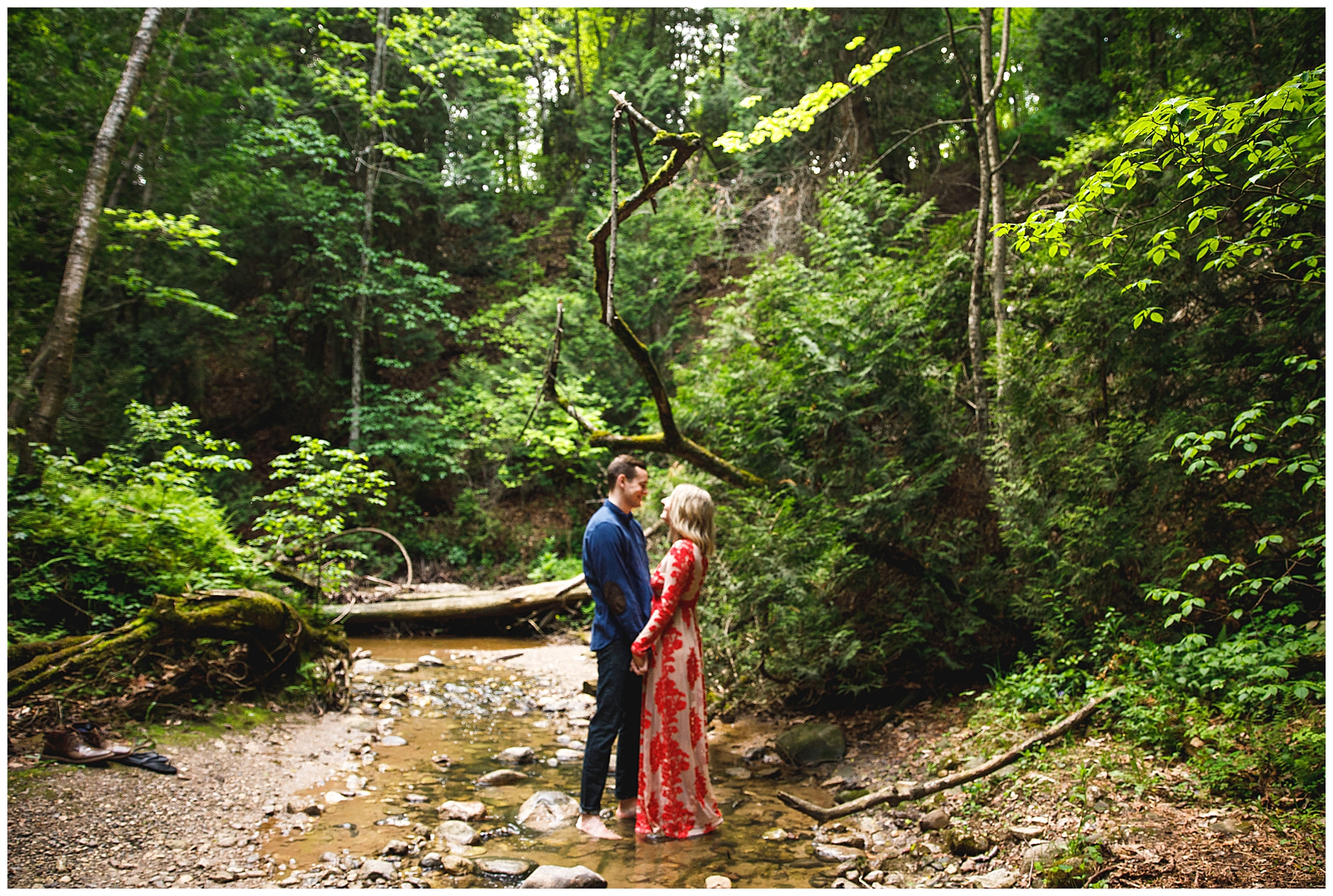 Romantic + Whimsical woodland engagement session - Chelsea Matson Photography