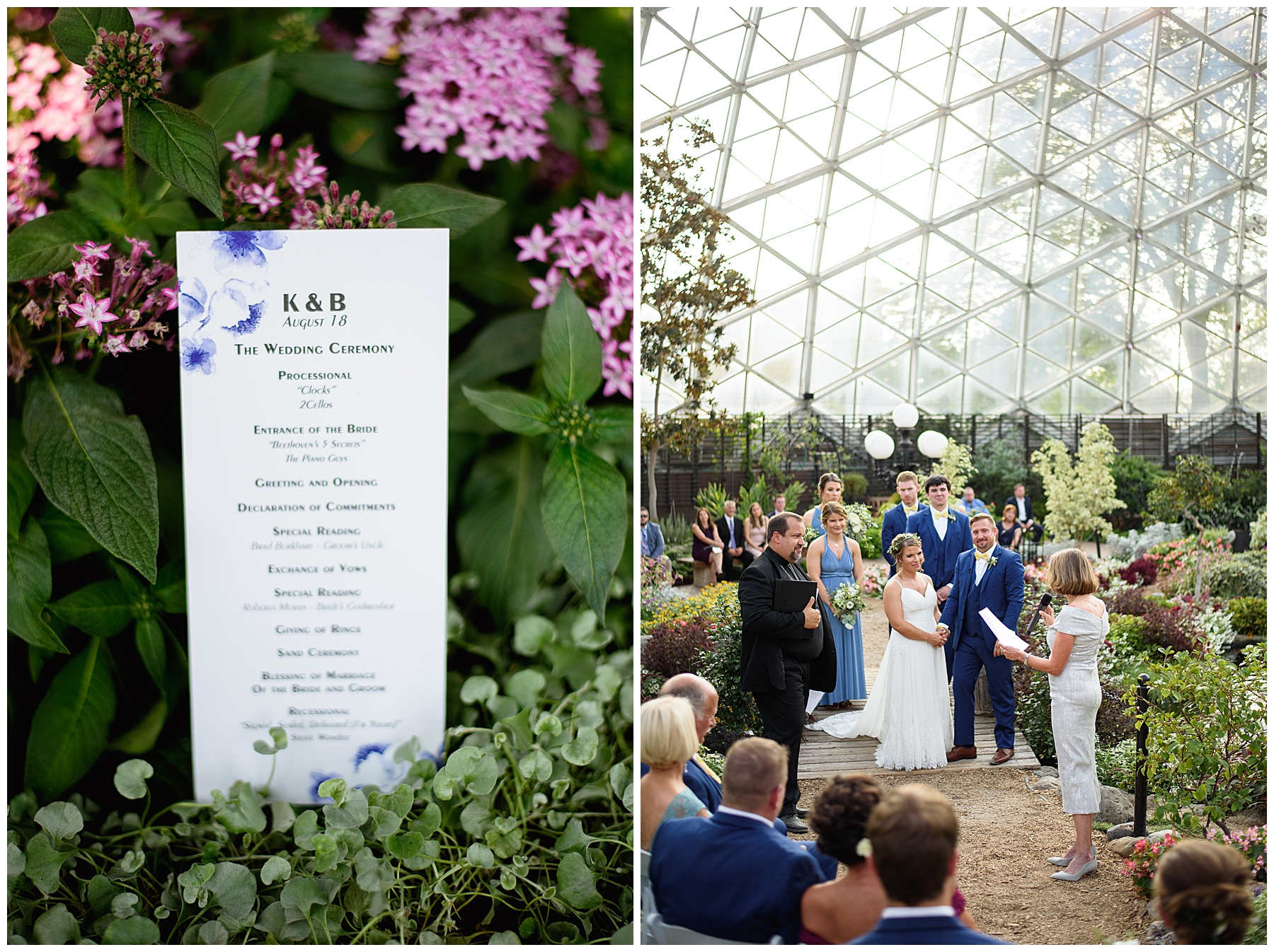 Kayla + Brian | Romantic Horticultural Wedding | Mitchell Domes