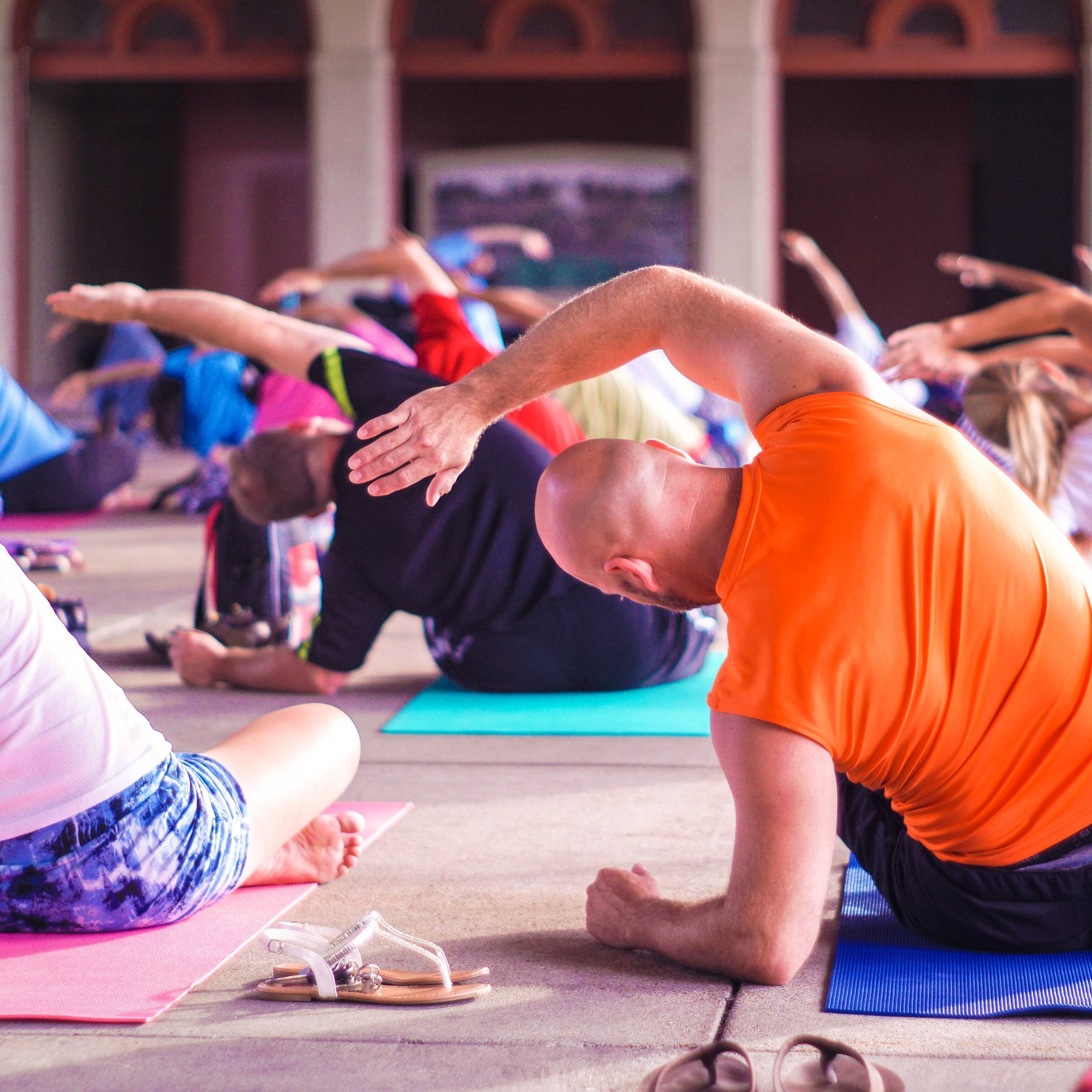 GENTLE YOGA—Hampden Marketplace   This class incorporates flowing movements and poses designed to improve flexibility, muscle endurance, balance, breathing and development of mind and body awareness. Seated and standing postures and some mat work (optional). Please provide your own yoga mat.