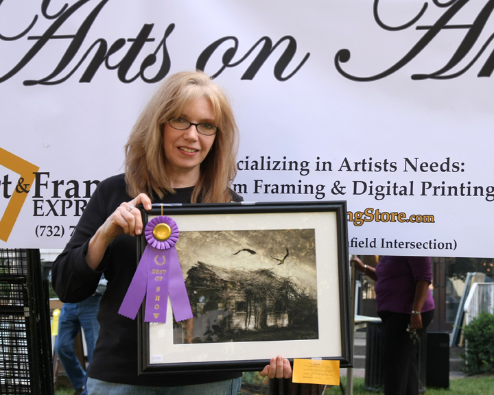 "Best in Show award for ""A Wing and a Prayer"" at Arts on Amboy, 2009."