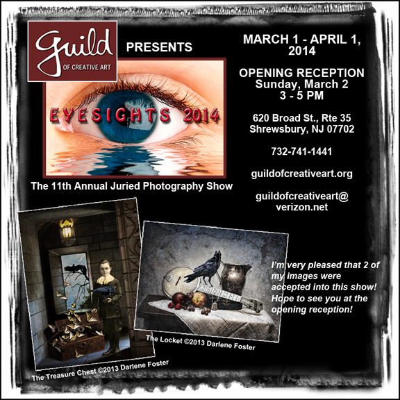 "Ad for ""Eyesights 2014"" show at The Guild of Creative Art in Shrewsbury, NJ."