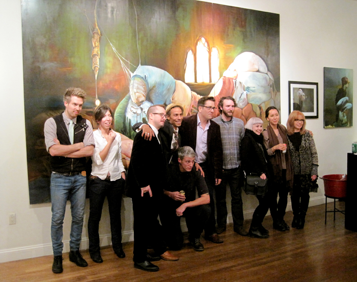 Group photo of all the artists included in the Juried 2013 show at Parlor Gallery, Asbury Park, NJ.