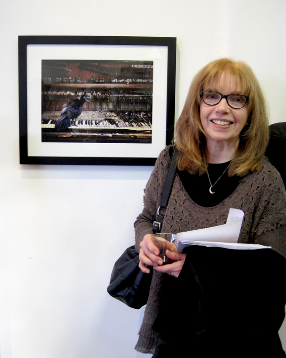 """Opening reception of Endangered with my piece """"The Last Waltz"""" at Hamilton Street Gallery, Bound Brook, NJ, 2015."""